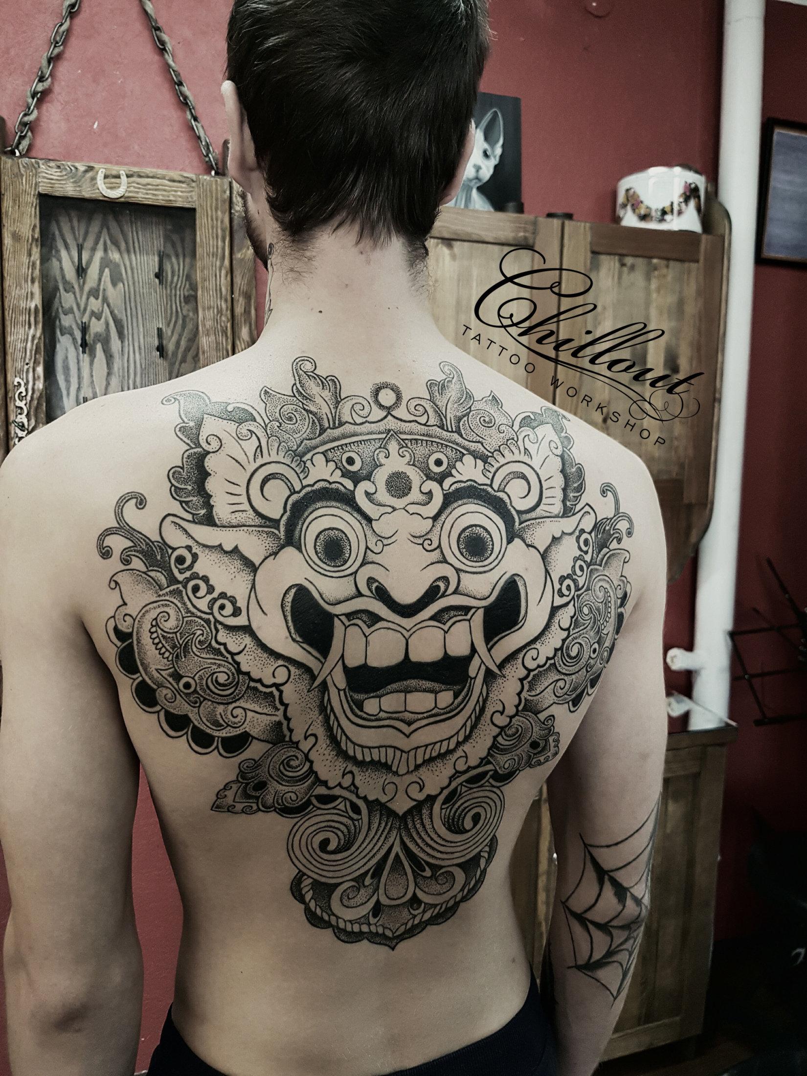 Татуировка Древняя маска