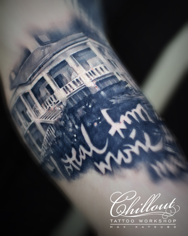 Татуировка Дом - Тарантино