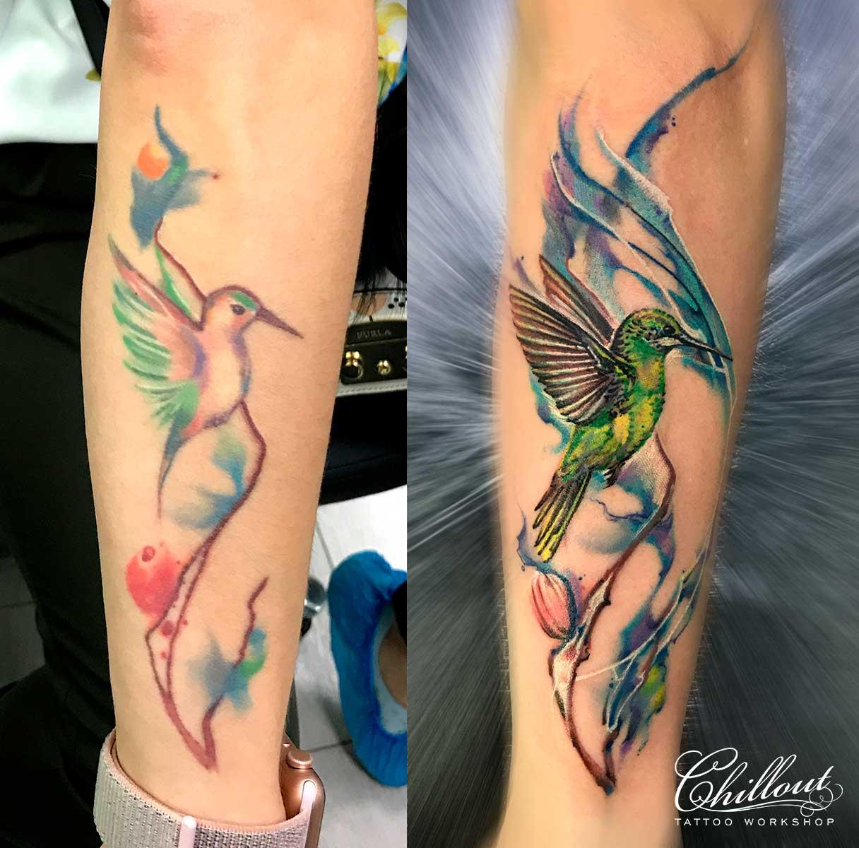 Татуировка колибри, исправление.