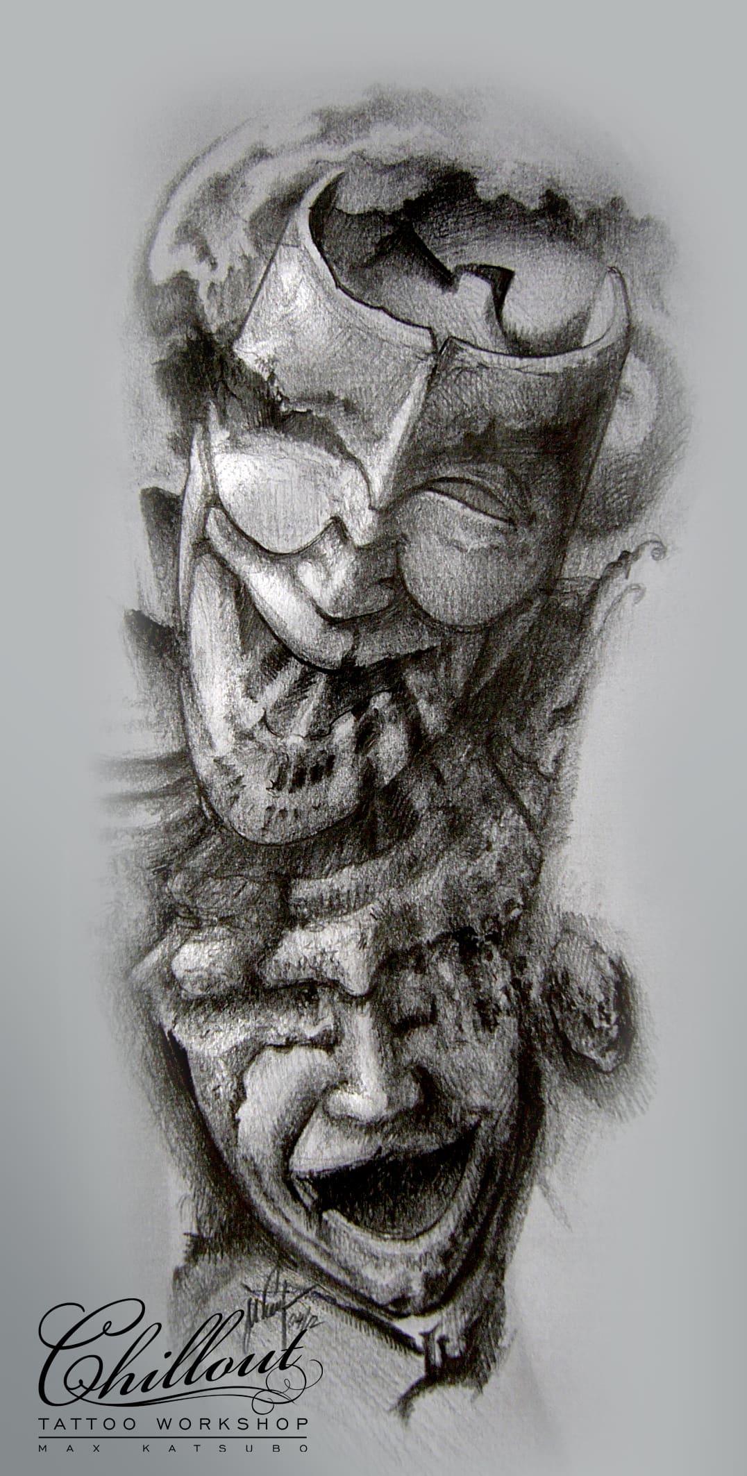Art тату эскиз Маски