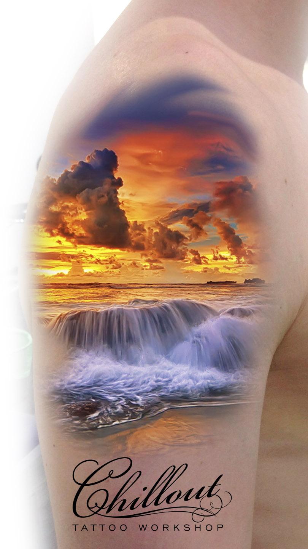 Art тату эскиз OCEAN