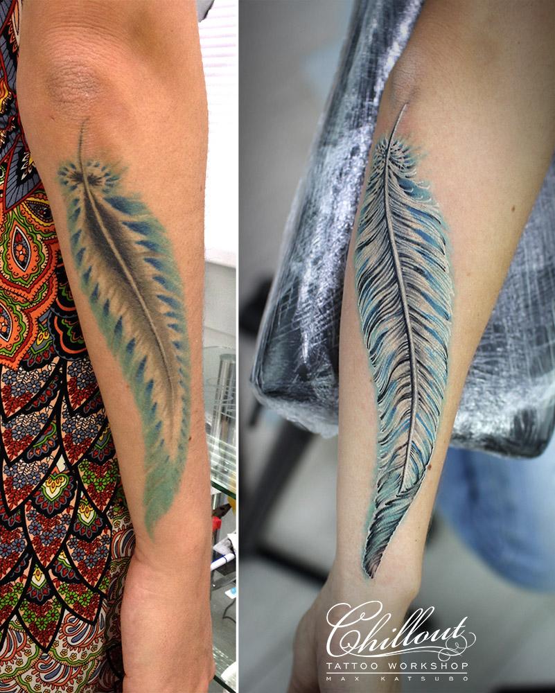 Татуировка перо исправление