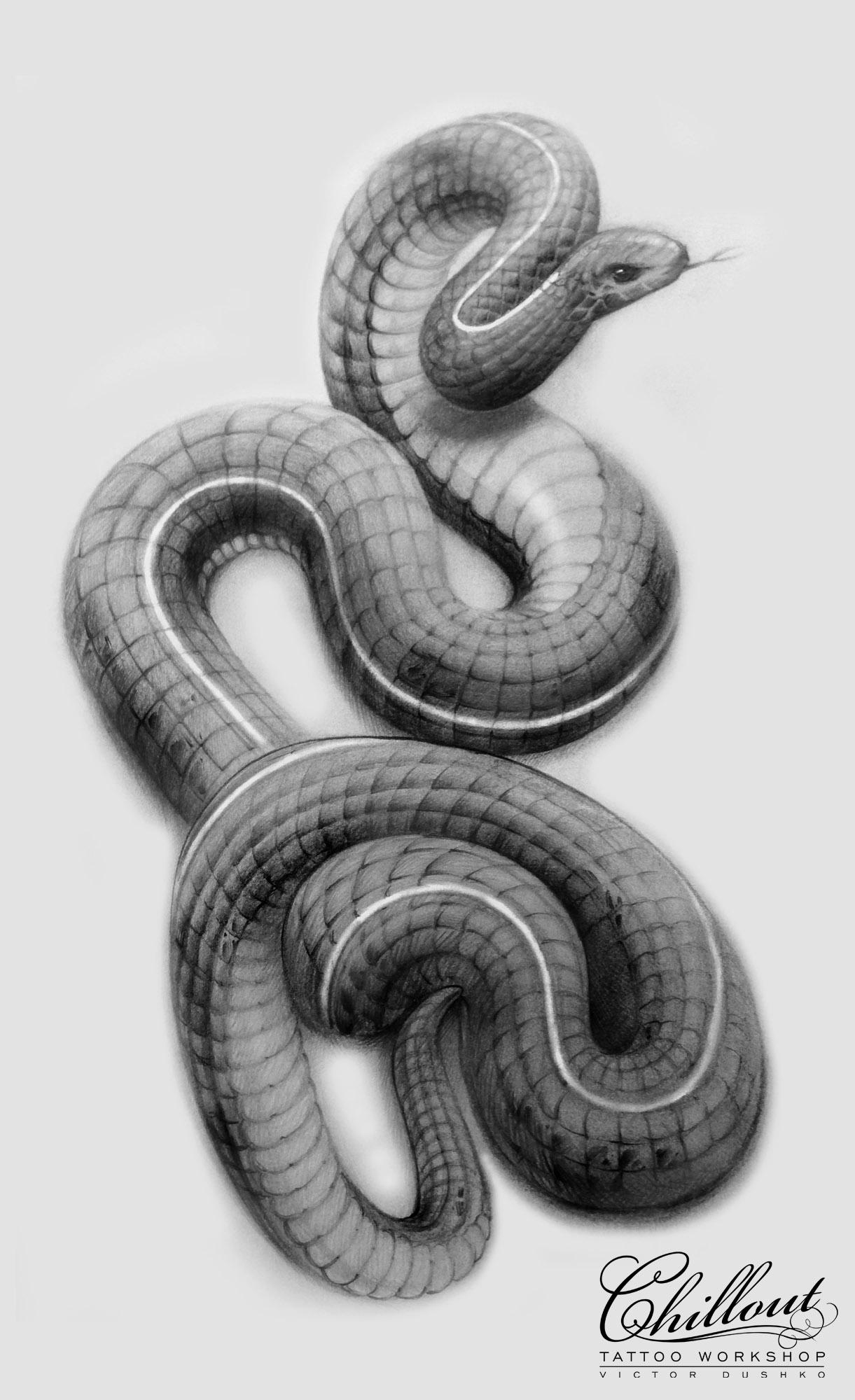 Art тату эскиз Змея