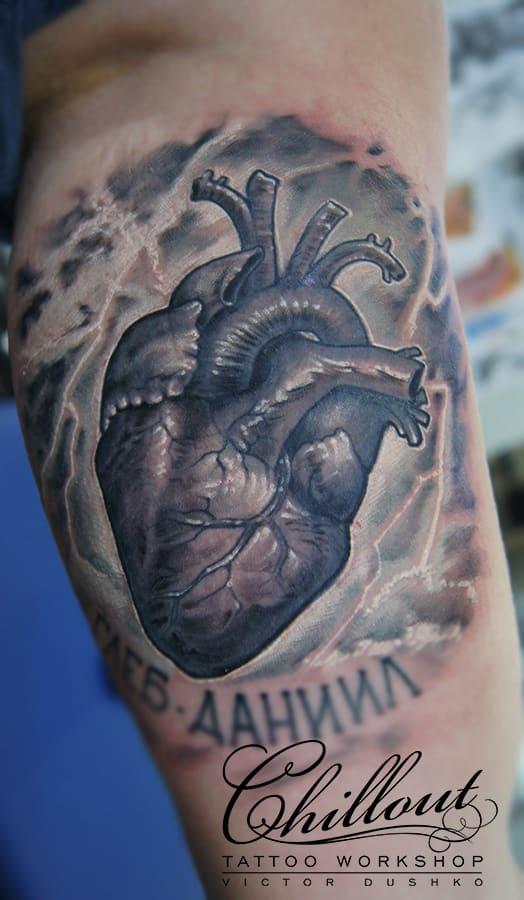 Тату сердце