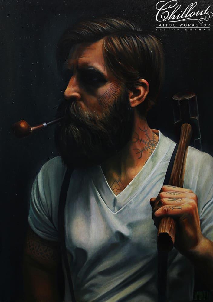 Art портрет маслом Кузнец