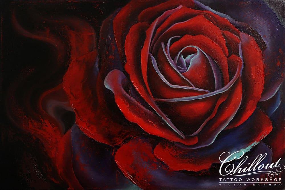 Art эскиз тату Роза
