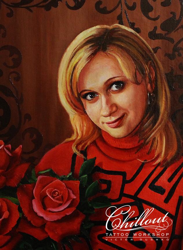 Art Девушка портрет маслом