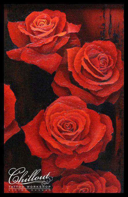 Эскиз тату Розы