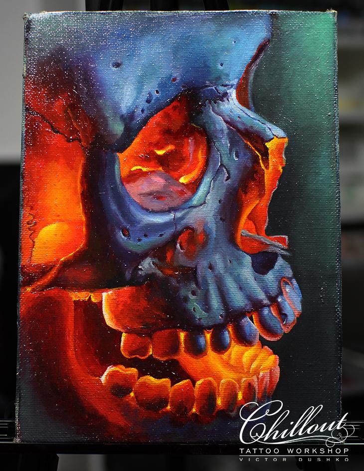 Art череп цветной