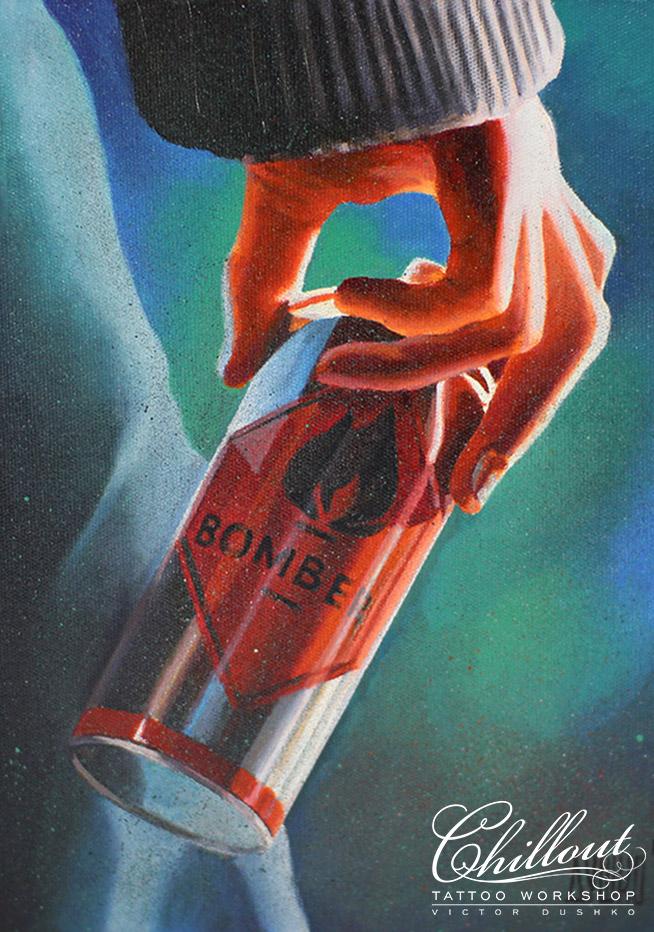 Бомбер. Холст, масло.