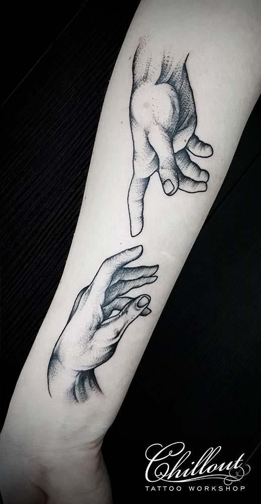 Татуировка руки вип шейдинг