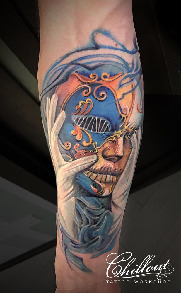 Татуировка Венецианская маска
