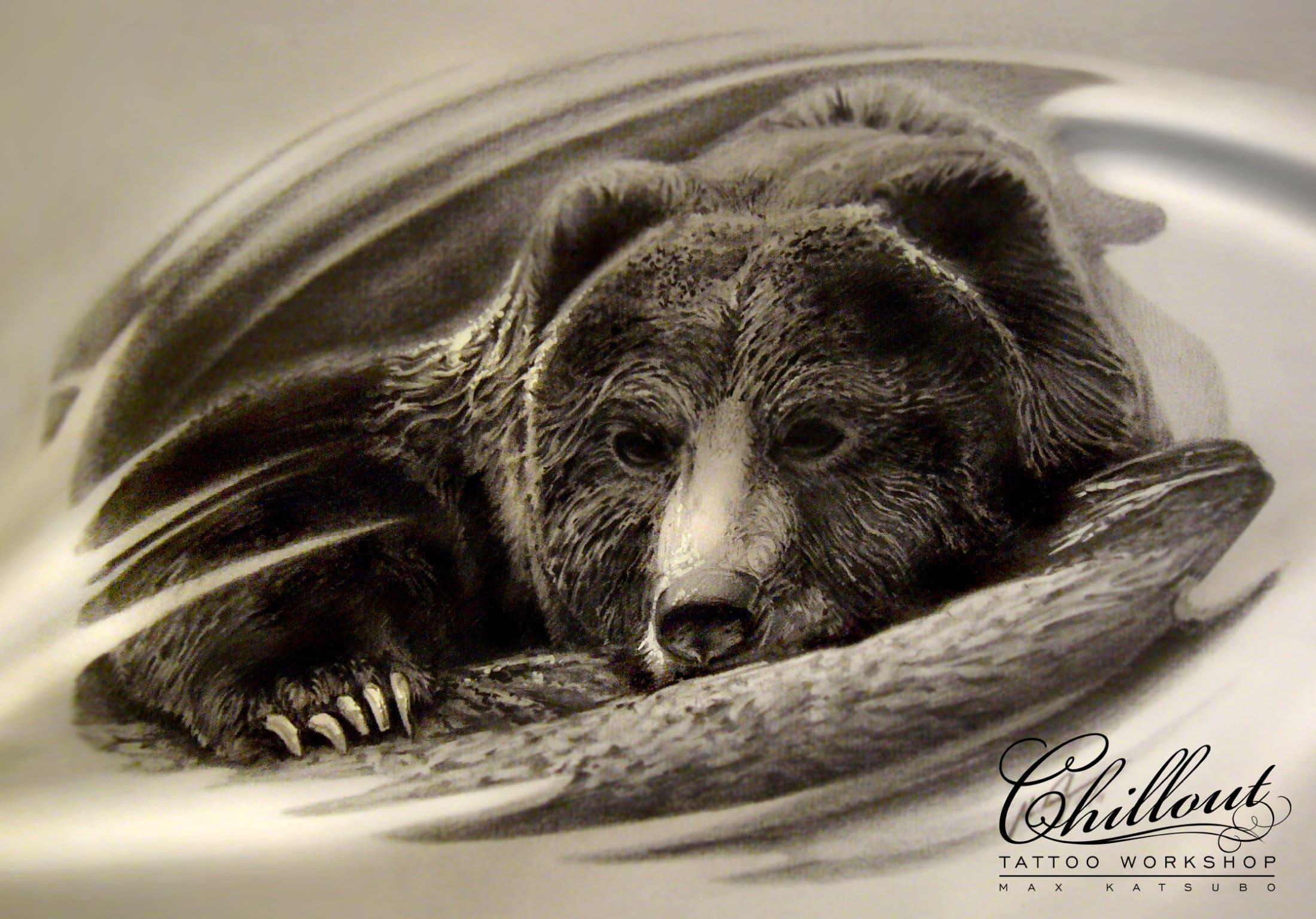 Art тату эскиз Медведь