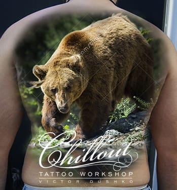 Эскиз тату медведь