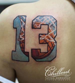 Татуировка 13 баскетбол