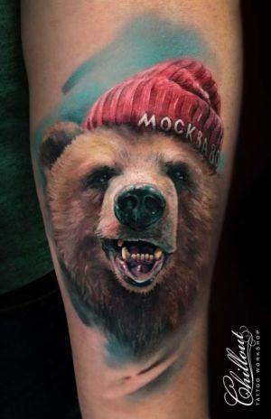 Татуировка медведь москва