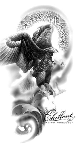 Art тату эскиз EAGLE
