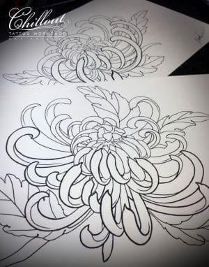 Art тату эскиз FLOWERS