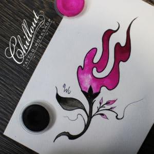 Эскиз татуировки цветок