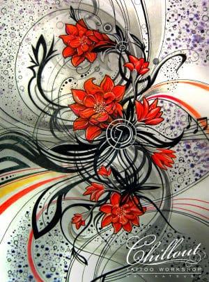 Art тату эскиз Цветы