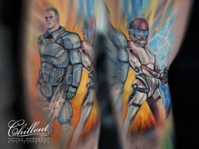 Татуировка Масс Эффект