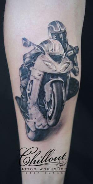 Тату Мотоциклист