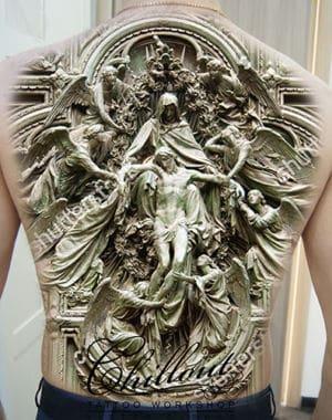 Эскиз тату Иисус